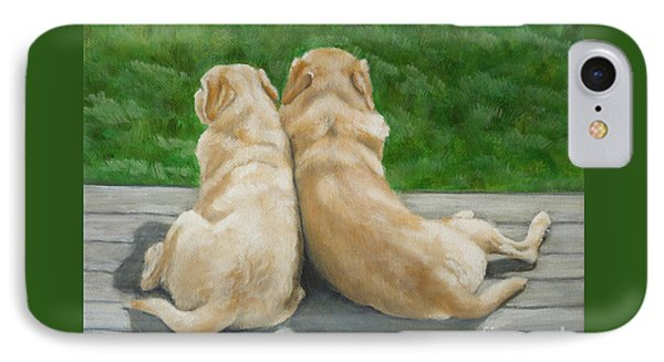 Labrador Lazy Afternoon Phone Case by Amy Reges