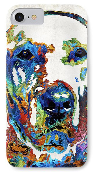 Labrador Retriever Art - Play With Me - By Sharon Cummings IPhone Case by Sharon Cummings