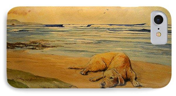 Labrador Retriever In The Beach IPhone Case by Juan  Bosco