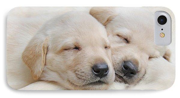 Labrador Retriever Puppies Sleeping  Phone Case by Jennie Marie Schell