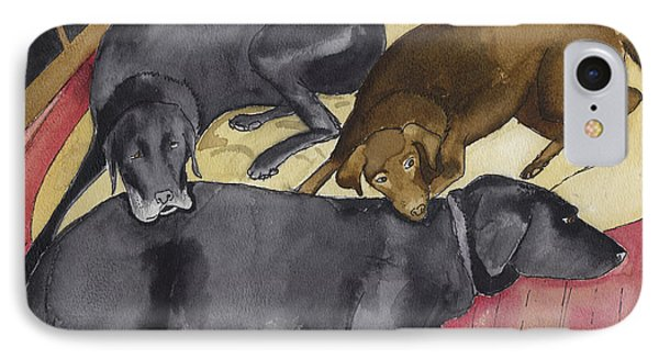 Labrador Retrievers Resting At Home Phone Case by Ethan Altshuler