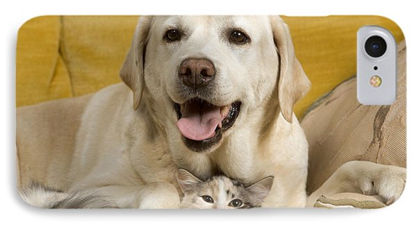 Labrador With Cat IPhone Case