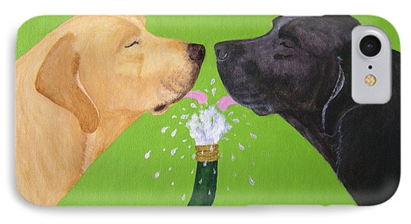Labs Like To Share 2 Phone Case by Amy Reges