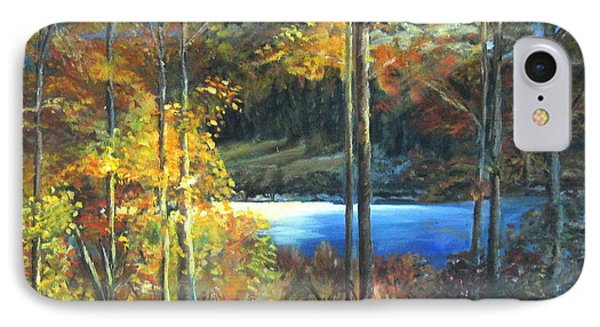IPhone Case featuring the painting Lac Fortune Gatineau Park Quebec by LaVonne Hand