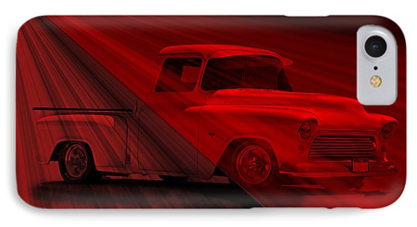 Lace Curtains 1956 Chevy Pick Up Phone Case by Dave Koontz