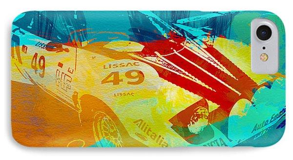 Lacia Stratos Watercolor 1 IPhone Case by Naxart Studio