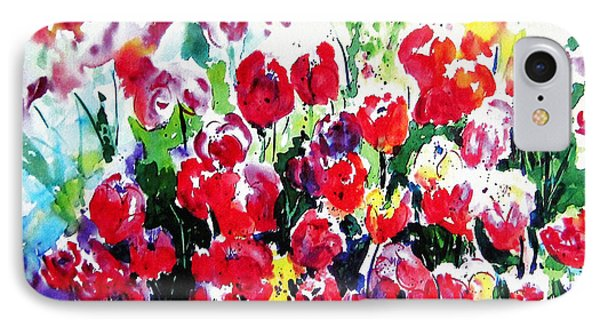 IPhone Case featuring the painting Laconner Tulips by Marti Green