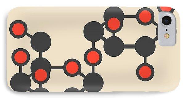 Lactose Milk Sugar Molecule IPhone Case by Molekuul
