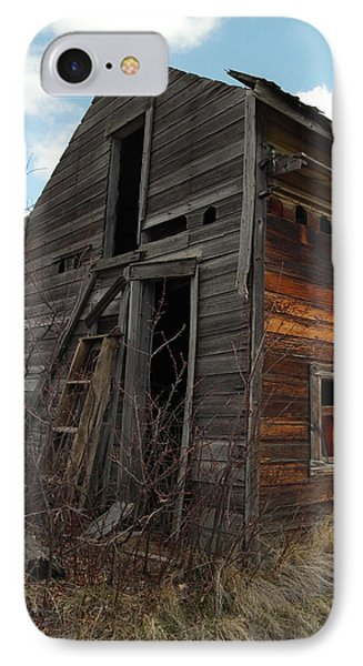 Ladder Against A Barn Wall Phone Case by Jeff Swan