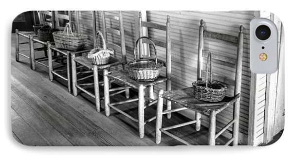 Ladder Back Chairs And Baskets Phone Case by Lynn Palmer