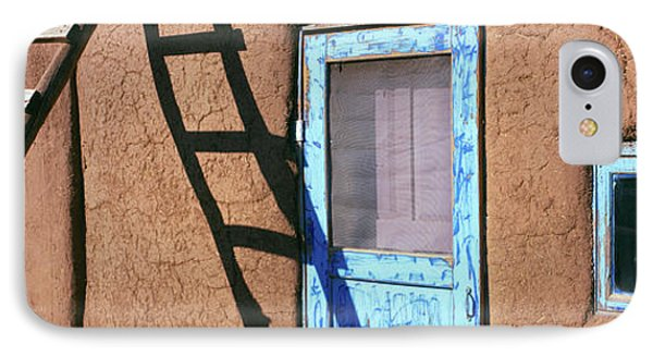 Ladder Leaning Against A House, Taos IPhone Case