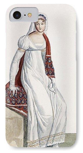 Ladies Day Dress, 1811 IPhone Case by Pierre de La Mesangere