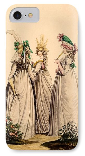Ladies In Day Wear - Modes Anglaises IPhone Case by French School