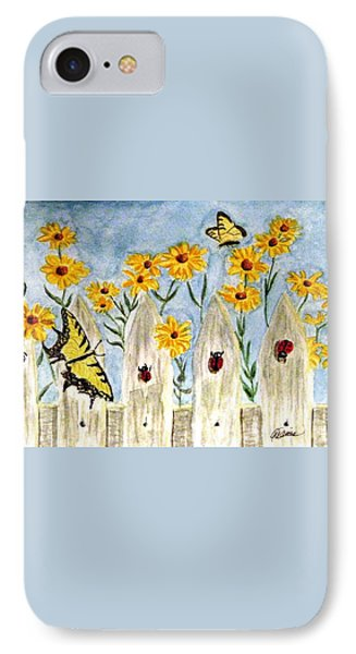 IPhone Case featuring the painting Ladies In The Garden by Angela Davies