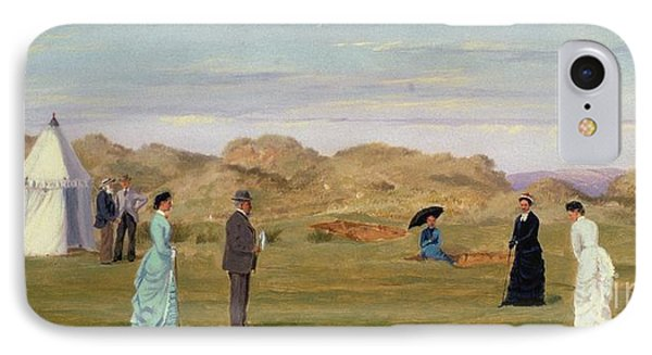 Ladies Match At Westward Ho Phone Case by Francis Powell Hopkins