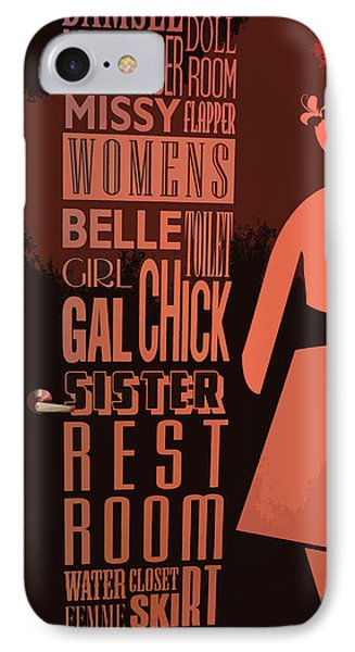 Ladies Room Phone Case by Patricia Januszkiewicz