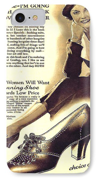IPhone Case featuring the photograph Ladies Shoes A Dollar Seventy Seven In 1934 by Merton Allen