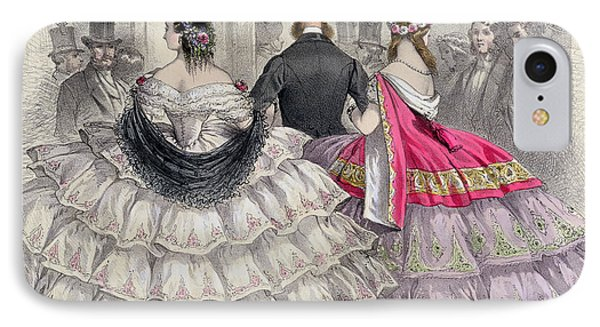 Ladies Wearing Crinolines At The Royal Italian Opera IPhone Case by TH Guerin