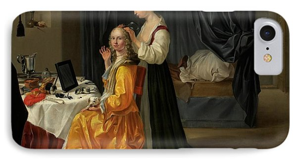 Lady At Her Toilet Phone Case by Netherlandish School