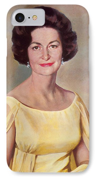 Lady Bird Johnson, First Lady IPhone Case by Science Source