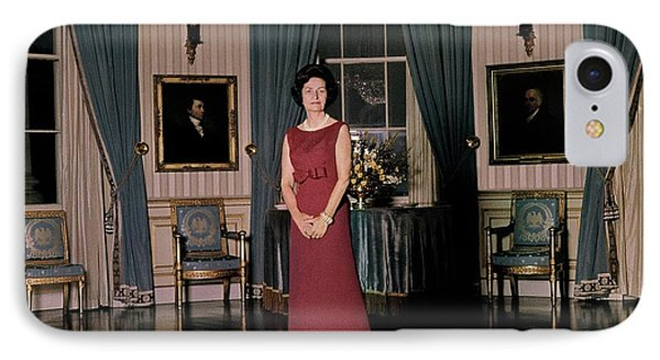 Lady Bird Johnson In The White House IPhone Case by Horst P. Horst