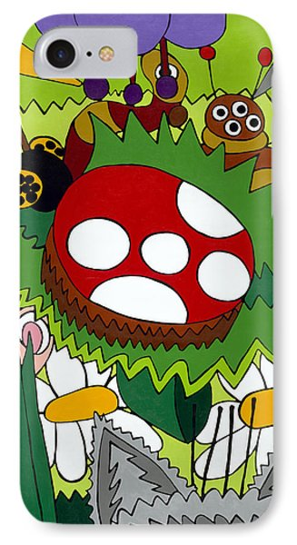 Lady Bug IPhone Case by Rojax Art