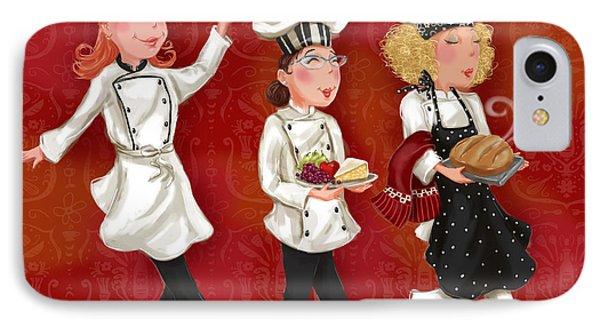 Lady Chefs - Lunch IPhone Case by Shari Warren