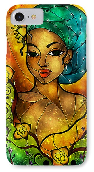 Lady Creole IPhone Case by Mandie Manzano