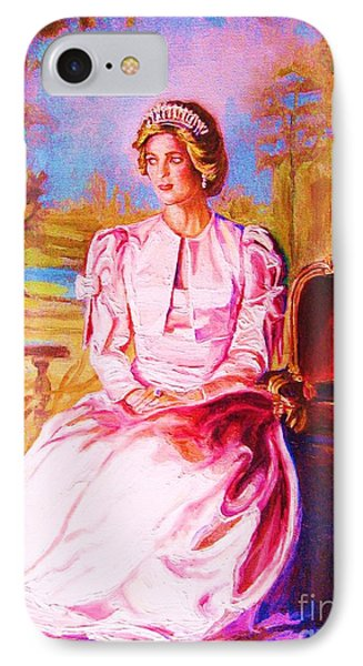 Lady Diana Our Princess IPhone Case by Carole Spandau
