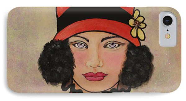 Lady In A Red Hat IPhone Case