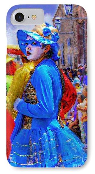 Lady In Blue IPhone Case by John  Kolenberg