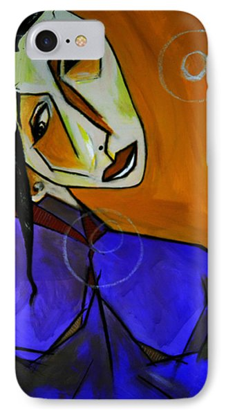 Lady In Blue IPhone Case by Robert Daniels