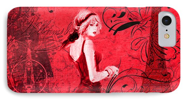 Lady In Paris IPhone Case by Greg Sharpe