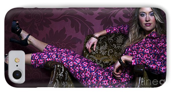 Lady In Pink... IPhone Case by Nina Stavlund