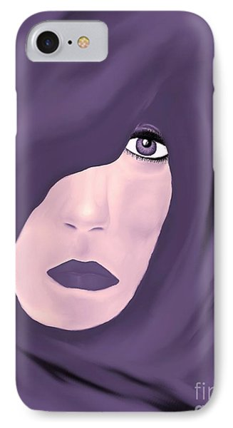 IPhone Case featuring the painting Lady In Purple by Lori  Lovetere