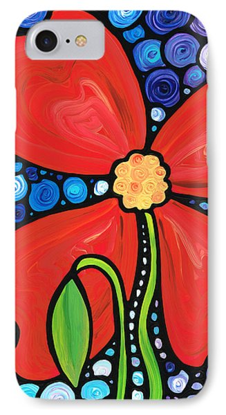 Lady In Red 2 - Buy Poppy Prints Online IPhone Case by Sharon Cummings