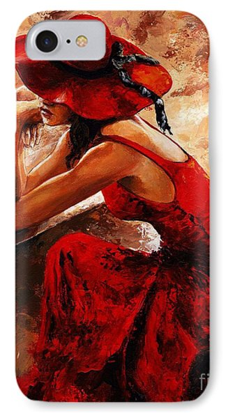 Lady In Red 21 IPhone Case by Emerico Imre Toth
