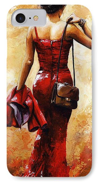 Lady In Red #25 IPhone Case by Emerico Imre Toth