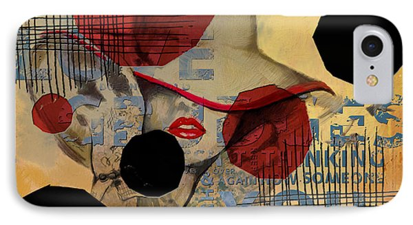 Lady In Red IPhone Case by Corporate Art Task Force