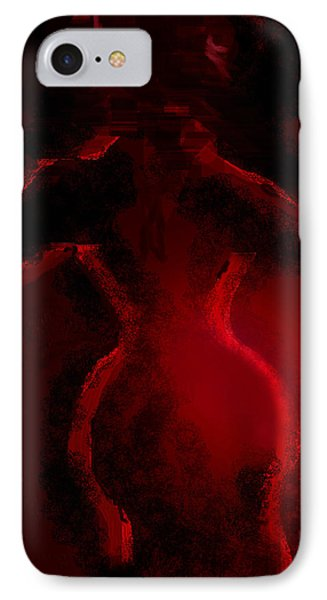 IPhone Case featuring the digital art Lady In Red by Martina  Rathgens