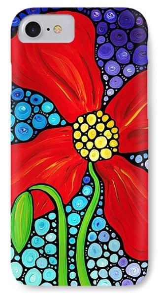 Lady In Red - Poppy Flower Art By Sharon Cummings Phone Case by Sharon Cummings