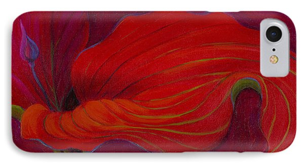 IPhone Case featuring the painting Lady In Red by Sandi Whetzel