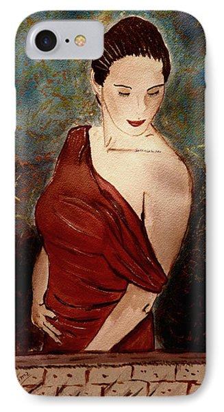 Lady In Red IPhone Case by Shlomo Zangilevitch