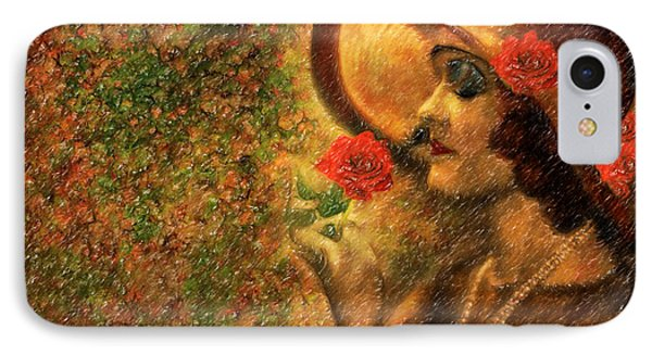 Lady In The Flower Garden Phone Case by Angela A Stanton