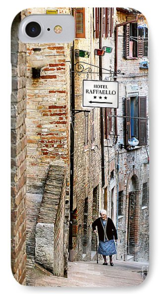 Lady In Urbino IPhone Case by Jennie Breeze