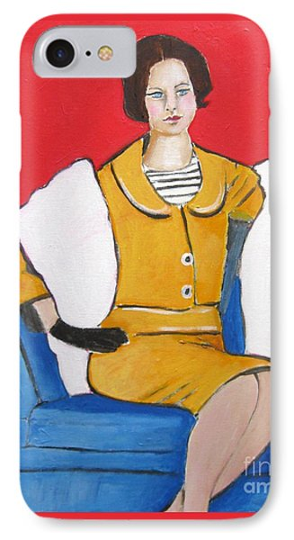 Lady In Yellow IPhone Case by Venus