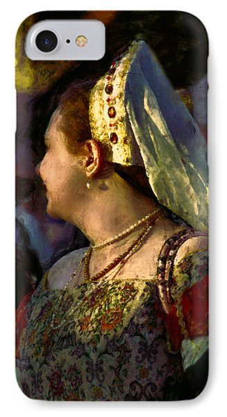 Lady Isabel In Conversation IPhone Case by John Rivera