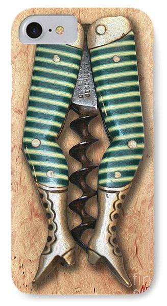 Lady Legs Corkscrew Painting IPhone Case by Jon Neidert