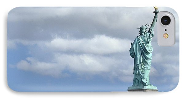 Lady Liberty   1 IPhone Case by Allen Beatty