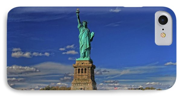 Lady Liberty In New York City Phone Case by Dan Sproul